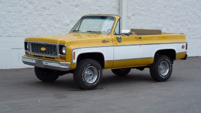 You're going to need a bigger… garage? 1974 Chevrolet K5 Blazer convertible up for auction