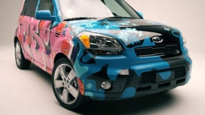 2009 Kia Soul Officially Vandalised By Kia And Adult Swim TV Network