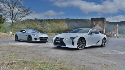 Sports coupe coup – Jaguar F-Type 400 Sport v Lexus LC500 Comparison Review