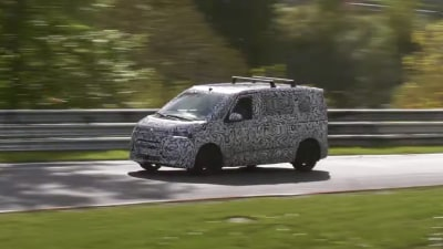Video: 2022 Volkswagen Transporter T7 spied in testing