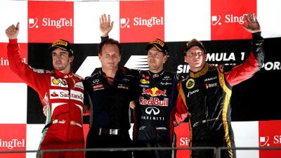 2013 Singapore F1 Grand Prix: Vettel Shines, Ricciardo Crashes Out