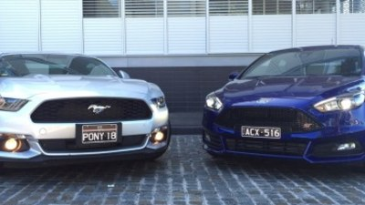 Ford Mustang EcoBoost and Ford Focus ST head to head comparison
