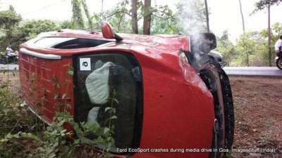 Ford EcoSport Crash: Emergency Assist Put To The Test
