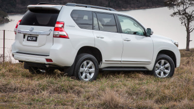 2014 Toyota Prado Altitude Tucks Spare Tyre Away For Easier Access