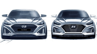 Design Sketches Tease Sporty New Look For Updated Hyundai Sonata