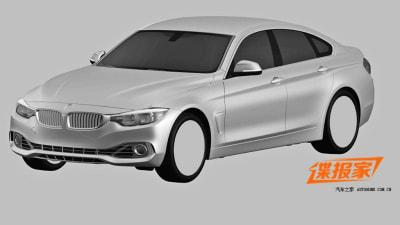 BMW '4 Series Gran Coupe' Sedan Surfaces In Patent Renderings