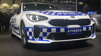 Can an Australian Kia Stinger pursuit car woo orders from US police?