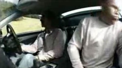 Video: Damon Hill + SL55 AMG = Vomiting Journalist