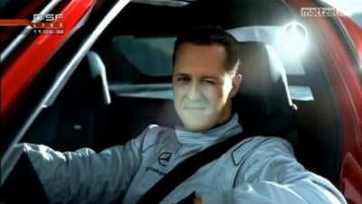 Michael Schumacher Drives SLS AMG Upside Down In Tunnel… Well, Not Quite