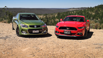 Ford Mustang GT vs Holden SS V Redline Ute Comparison Review | V8 'Coupe' Showdown