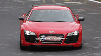 Audi R8 e-tron Spotted Charging Around The 'Ring