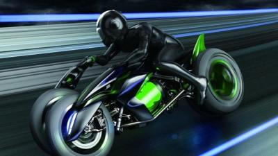 Kawasaki Unveils Three-Wheeled 'J' Motorcycle Concept In Tokyo