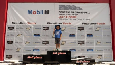 Six-year-old designs motorsport livery