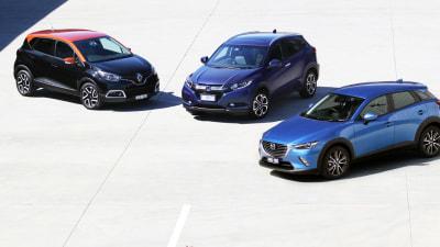 Compact SUV Showdown: Mazda CX-3 vs Honda HR-V vs Renault Captur