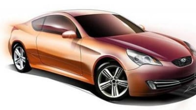 Hyundai RWD Coupe official rendering
