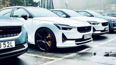 High-performance Polestar 2 prototype teased with 21-inch wheels, big brakes