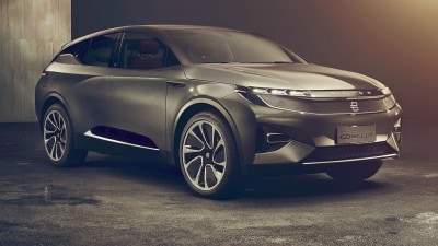 Chinese startup unveils Tesla SUV rival