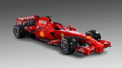 Ferrari reveal F2008 F1 racer