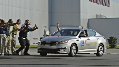 Kia Optima Hybrid Sets Guinness World Record With Epic Journey