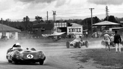 The racing track built on a wartime air strip