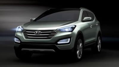 "2013 Hyundai Santa Fe Revealed Through Twitter, Debuts ""Storm Edge"" Design"