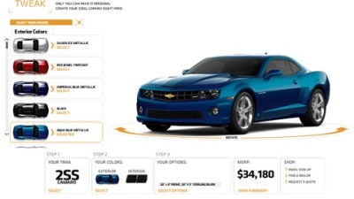 2010 Chevrolet Camaro: Roll Your Own, Online