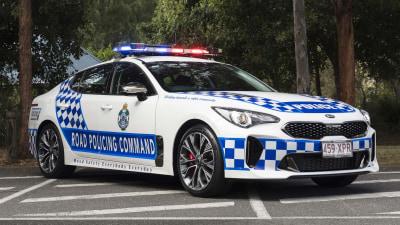 Aussie Stinger police car lights up the US