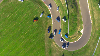 drive car of the year 2021 drone photo