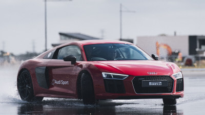 Test driving Audi Driving Experience at The Bend