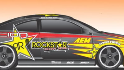 Rockstar/AEM Showcase V8-Powered Scion tC Drift Car