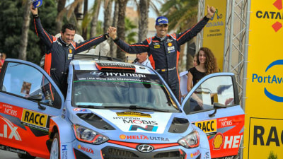 Hyundai Podium In Penultimate WRC Round Keeps Manufacturers' Title Alive