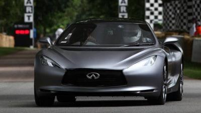 Infiniti Emerge-E And FX Vettel Turn Wheels at Goodwood: Video