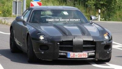 Mercedes Benz SLS AMG 'Gullwing' Spied Testing