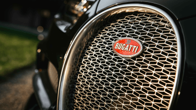 Bugatti grille close-up