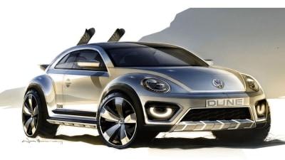 2014 Volkswagen Beetle Dune Concept Teased Ahead Of Detroit