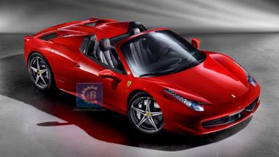 2012 Ferrari 458 Italia Spider Sneaks Online