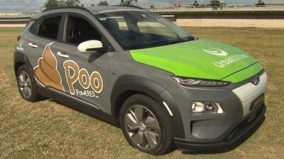 Electric car powered by poo unveiled by Queensland sewage treatment company