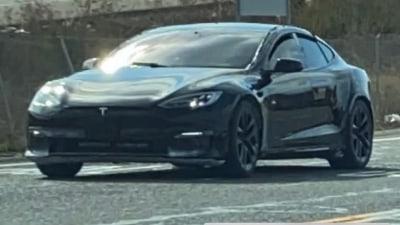2021 Tesla Model S facelift spied again