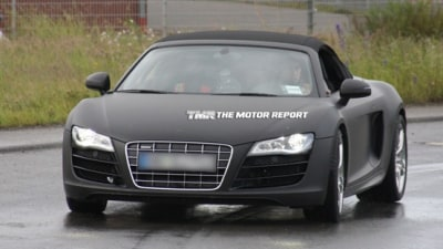 2011 Audi R8 Spider Spied Testing In Germany, Skipping V8 Engine For V10 Power; A8 Delayed