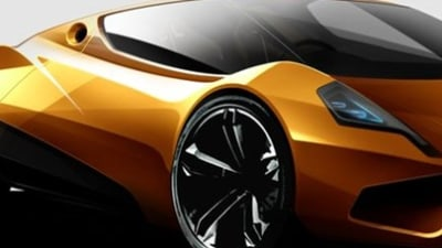 P1-E Electric Sports Car For 2009