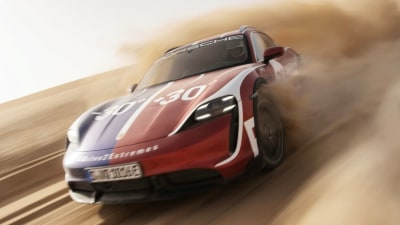 Video: Wild drone footage captures Porsche Taycan Cross Turismo through desert and snow