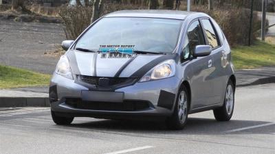 2012 Honda Jazz Hybrid Spied Testing