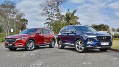 Hyundai Santa Fe Highlander v Mazda CX-8 Asaki comparison test