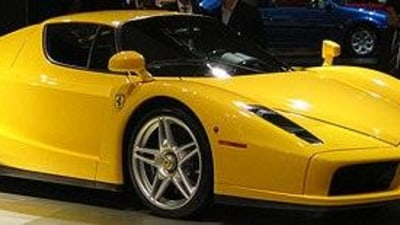 Ferrari Enzo - out for coffee in Canada
