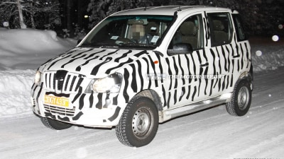 2012 Mahindra Xylo Mini Spied Winter Testing In Northern Europe