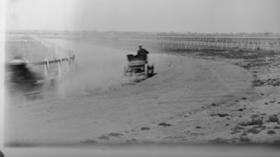 Sandown Racecourse and Australia's first car race