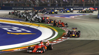Formula 1 - Vettel Wins On The Streets In Singapore