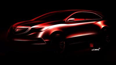2014 Honda MDX Teased Before Detroit