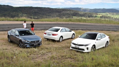 Showdown: Kia Optima GT v Mazda6 GT v Toyota Camry Atara SL Comparison Test