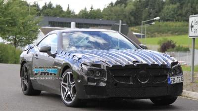 2013 Mercedes-Benz SL 63 AMG Spied Testing
